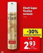 Elnett laque fixation normale  offre à 2,93€