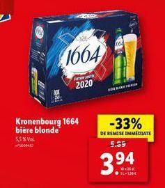 Bière blonde offre à 3,94€
