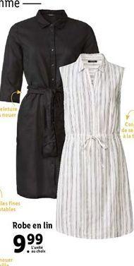 Robe en lin offre à 9,99€