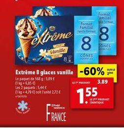 Glace à la vanille offre à 1,55€