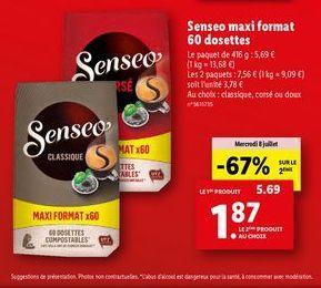 Café Senseo offre à 1,87€