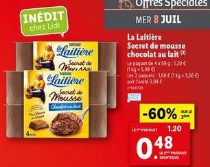 Chocolat au lait offre à 0,48€