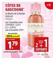 Vin rosé offre à 1,79€