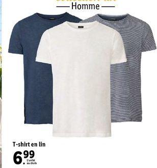 T-shirt en lin offre à 6,99€