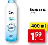 Brume d'eau offre à 1,59€