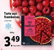 Tarte aux framboises offre à 3,49€
