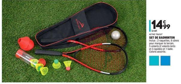 Set de badminton offre à 14,99€
