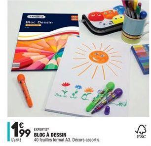 Bloc à dessin offre à 1,99€