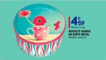Biscuits danois en boîte métal offre à 4,59€