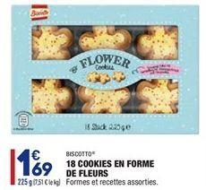 18 cookies en forme de fleurs offre à 1,69€