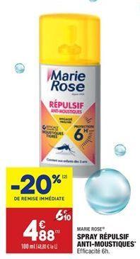 Spray répulsif anti-moustique offre à 4,88€