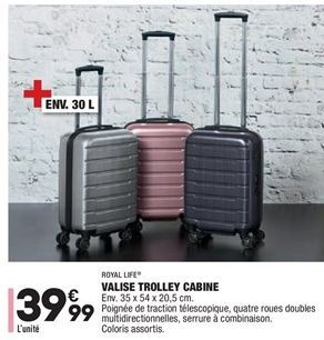 Valise trolley cabine offre à 39,99€
