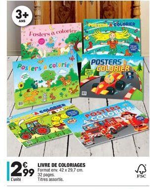 Livre de coloriages offre à 2,99€