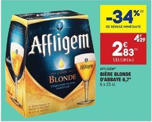 Bière blonde d'abbaye 6.7° offre à 2,83€