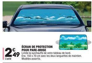 Écran de protection pour pare-brise offre à 2,49€