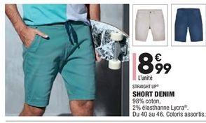 Short denim offre à 8,99€