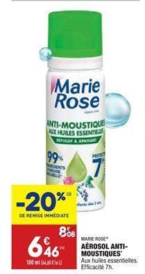 Aérosol anti-moustiques offre à 6,46€