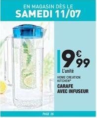 Carafe avec infuseur offre à 9,99€