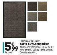 Tapis anti-poussiére offre à 5,99€