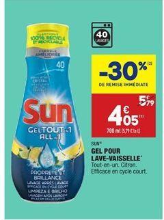 Gel pour lave-vaisselle offre à 4,05€
