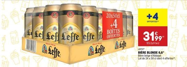 Bière blonde 6.6° offre à 31,99€