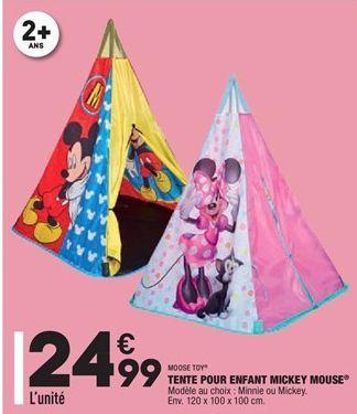 Tente pour enfant mickey mouse offre à 24,99€