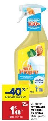 Nettoyant ménager en spray offre à 1,48€