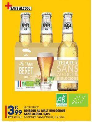 Boisson au malt biologique sans alcool 0.0% offre à 3,99€