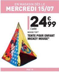 Tente pour enfant mickey pouse offre à 24,99€