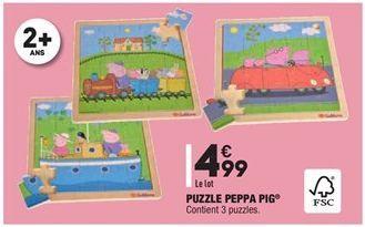 Puzzle Peppa pig offre à 4,99€