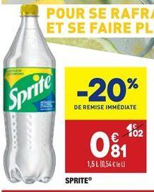 Sprite offre à 0,81€