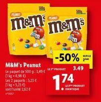 Chocolats M&M's offre à 1,74€