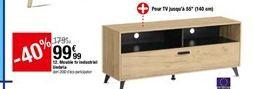 Meuble tv industriel Umbria offre à 99,99€
