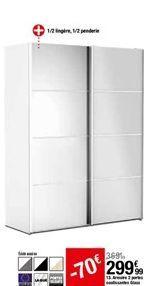 Armoire 2 portes coulissantes Glass offre à 299,99€
