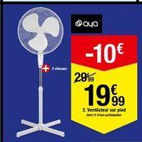 Ventilateur sur pied offre à 19,99€