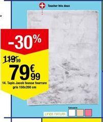 Tapis Jacob fausse fourrure gris 150x200 cm offre à 79,99€