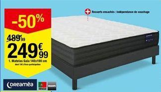 Matelas gala 140 x 190 cm offre à 249,99€