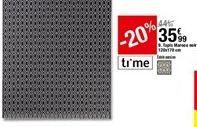 Tapis Maroco noir 120x170 cm offre à 35,99€