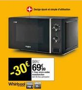 Four micro-ondes monofonction Whirpool offre à 69,99€