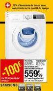 Lave linge hublot SAMSUNG offre à 559,99€