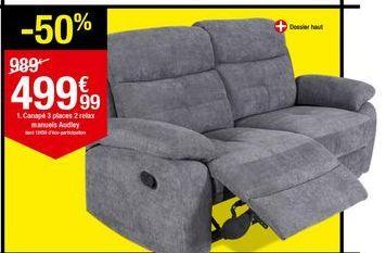 Canapé 3 places Audley offre à 499,99€