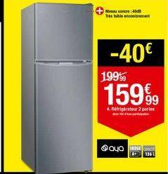 Réfrigérateur 2 portes AYA offre à 159,99€