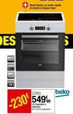 Cuisinière induction Beko offre à 549,99€