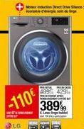 Lave-linge hublot LG offre à 389,99€