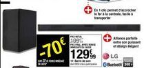 Barre de son LG offre à 129,99€