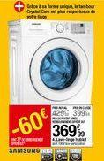 Lave linge hublot Samsung offre à 369,99€
