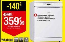Lave-vaisselle Whirlpool offre à 359,99€