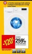 Lave linge hublot Sharp offre à 259,99€