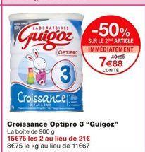 """Croissance Optipro 3 """"Guigoz"""" offre à 10,5€"""