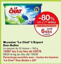 """Lessive """"Le chat"""" L'Expert Duo-Bulles offre à 11,39€"""